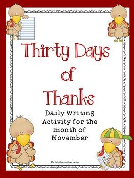 FREE:  Thirty Days of Thanks