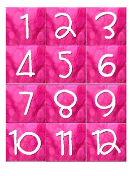 Thirty-One Gifts Inspired Calendar Months & Dates