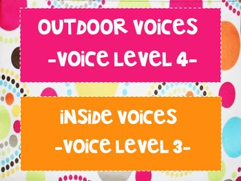 Thirty-One Gifts Inspired- Voice Levels