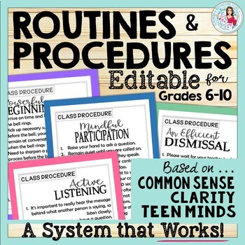 30 Classroom Management Routines and Procedures Middle Hig