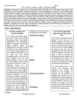 Thirty Years' War Study Guide