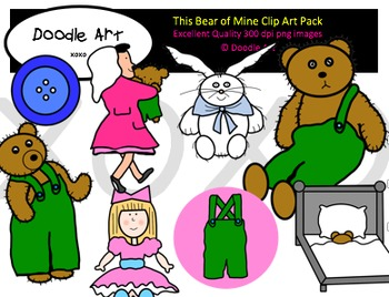 This Bear of Mine Clipart Pack