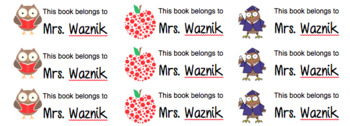 This Book Belongs To... Label 2