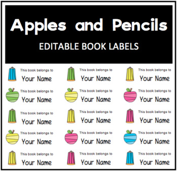 This Book Belongs to... Label