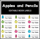 "Apples and Pencils ""This Book Belongs to..."" Label"