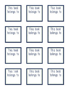 This Book Belongs to... | Labels for your Classroom Library (Navy + Lime Green)