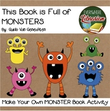 This Book is Full of Monsters by Van Genechten Bravery Diploma and Book Activity