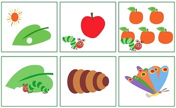 The Very Hungry Caterpillar-Sequencing Cards, Interactive Book and Sentences!
