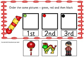 This Chinese activity focus on ordering numbers 1 to 3