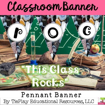 This Class Rocks! Pennant Classroom Decor~ Editable