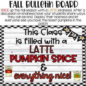Fall Pumpkin Spice Kindness Bulletin Board