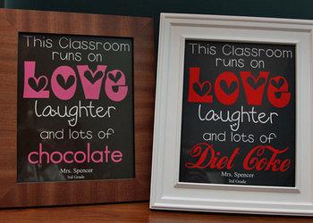 This Classroom Runs on ... editable MS Word, print