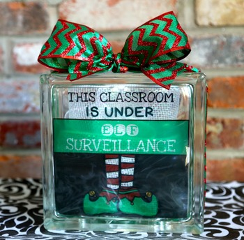 This Classroom is Under Elf Surveillance Light Up Box