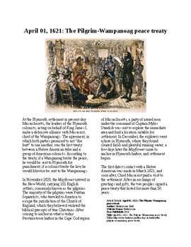 This Day in History - April 1: Pilgrims and Wampanoags sign treaty