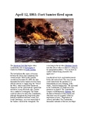 This Day in History - April 12: Fort Sumter fired upon (no prep/sub plans)