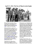 This Day in History - April 17: The Bay of Pigs Invasion (no prep/sub plan)