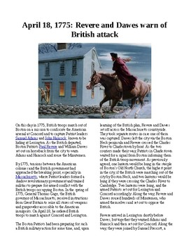 This Day in History - April 18: Revere and Dawes warn the countryside of British