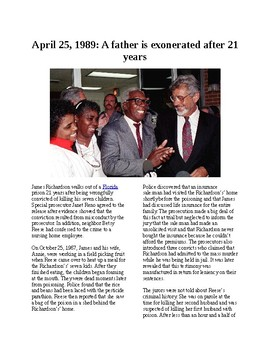 This Day in History - April 25: Father exonerated after 21 years (no prep/sub)
