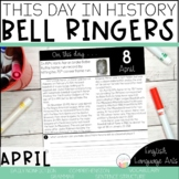 This Day in History April Bell Ringers   Daily Language   Morning Work