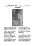 This Day in History - August 18: Hitler suspends T4 euthanasia program (no prep)