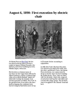 This Day in History - August 6: The first electric chair execution (no prep/sub)