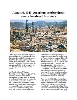This Day in History - August 6: US drops atomic bomb on Hiroshima (no prep)