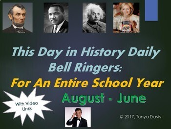 This Day in History Daily Bell Ringers for an Entire Year with Video Links