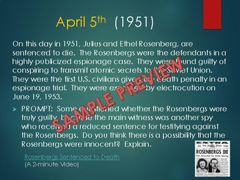 This Day in History Daily Bell Ringers with Video Links:  April