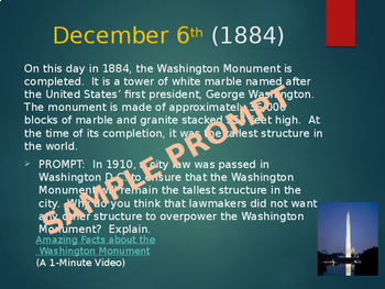 This Day in History Daily Bell Ringers with Video Links:  December
