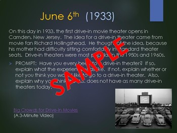 This Day in History Daily Bell Ringers with Video Links:  June