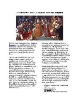 This Day in History - December 2: Napoleon Crowns Himself Emperor (no prep/sub