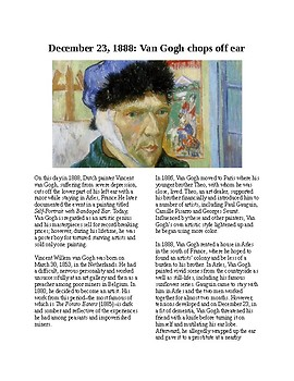 This Day in History - December 23: Van Gogh Cuts Off Ear (no prep/sub plan)