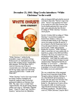 This Day in History - December 25: Bing Crosby Debuts White Christmas