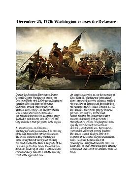 This Day in History - December 25: Washington Crosses Delaware (no prep/sub)