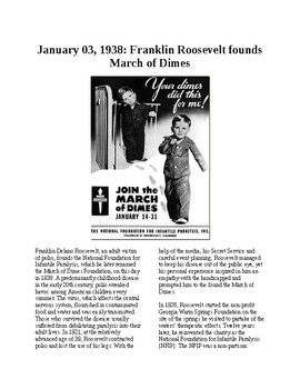 This Day in History - December 3: FDR and the March of Dimes (no prep/sub plan)