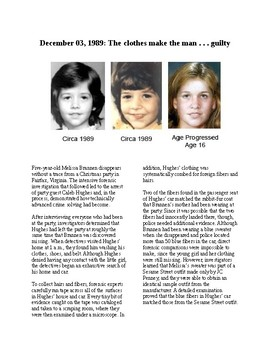 This Day in History- December 3: Forensic Fibers Lead to Guilty Verdict (no prep