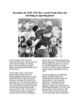This Day in History - December 30: Woody Hayes Punches Player (no prep/sub)