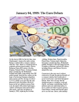 This Day in History - December 4: The Euro Debuts (no prep/sub plans)
