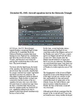 This Day in History - December 5: Squadron Lost in Bermuda Triangle (no prep)