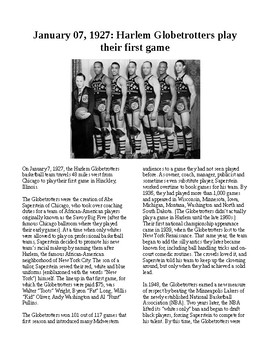 This Day in History - December 7: Globetrotters play their first game (no prep)