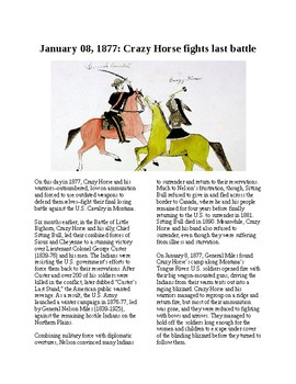 This Day in History - December 8: Crazy Horse fights his last battle (no prep)