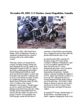 This Day in History - December 9: Black Hawk Down (no prep/sub plans)