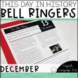 This Day in History December Bell Ringers | Daily Language | Morning Work