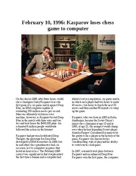 This Day in History - February 10: Deep Blue beats Kasparov at chess (no prep)