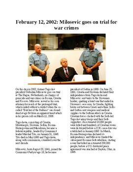 This Day in History - February 12: Milosevic on trial for war crimes (no prep)