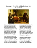 This Day in History - February 13: Galileo in Rome for Inquisition (no prep)