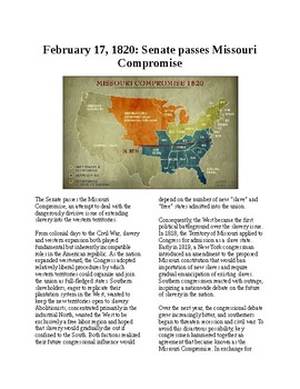 This Day in History - February 17: Missouri Compromise passed (no prep)