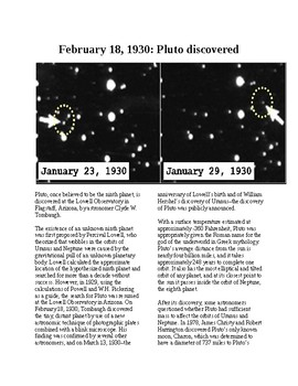This Day in History - February 18: Pluto Discovered (no prep/sub plan)