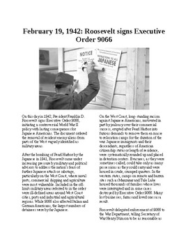 This Day in History - February 19: Roosevelt signs Order 9066 (no prep/sub)