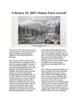 This Day in History - February 19: The Donner Party Rescued (no prep/sub)